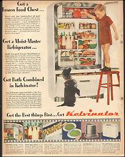 1947 vintage AD KELVINATOR Moist Master Refrigerator Boy and dog(112815)