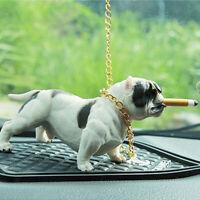 American Bully Dog Car Dashboard Decor Toy Bulldog Ornaments