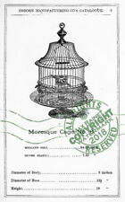 Osborn Mfr New York 1876 CATALOGUE Bird + Animal Cages brass metal wire Samples
