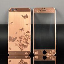 Panzerglas Rose Gold mit Schmetterlingsdesign Carbon Fiber iPhone 7plus