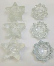 Lot 6 Avon Votive Tea Light Candle Holders Stars Wedding Party Christmas