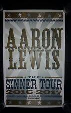 AARON LEWIS HATCH SHOW PRINT 2016 2017 Sinner Tour Poster STAIND Nashville