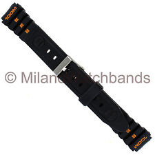 14mm Gilden Black Rubber PVC Sportstrap Watch Band 9594-14