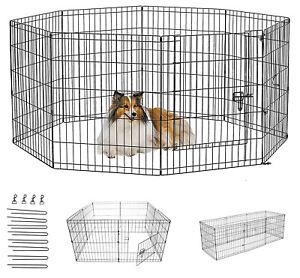 Dog Pen Puppy Pet Playpen Run Outdoor Foldable Enclosure Rabbit Fence Crate cage