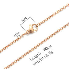 Authentic Stainless Steel Chain Necklace Lobster Clasps Fit Men Women Pendant