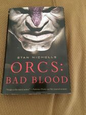 Orcs: Bad Blood Stan Nicholls Hardcover With DJ