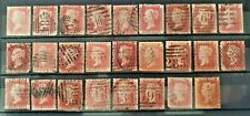 GB QV 1d Penny Red Collection 26 Stamps Various Plates