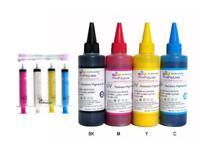 4x100 ml Waterproof Pigment Bulk Refill Ink for Epson (nonOEM)+ 4 Color Syringes