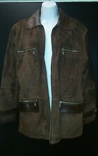 Suede and leather women's coat size M