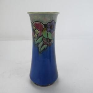 """Royal Doulton Stoneware Vase with Colourful Floral Design 9.5"""" High 8687N"""