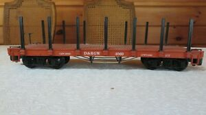 LGB 4060 D&RGW FLAT CAR W/STAKES * ORIGINAL BOX * G SCALE