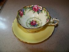 Vintage Paragon England Fine Bone China Tea Cup and Saucer Double tapestry