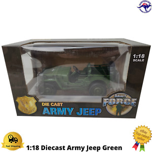 Diecast Army Jeep 1:18 Metal Golden Wheel Boxed New Display Collectable KDW