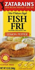 Zatarain's - Seafood Breading Mix - Fish Fri Lemon Pepper, 12 Ounce (Pack of 6)
