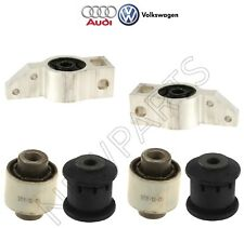 For Audi VW Rear Lower Outer Control Arms & Front Forward Rearward Bushings Kit