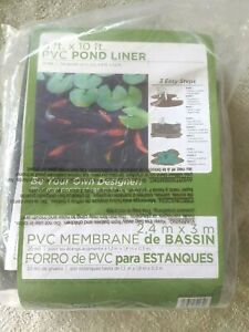 8' x 10' PVC Pond Liner - for ponds/water gardens - 20 mil-durable
