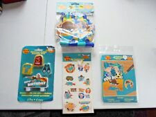 Disney Phineas & Ferb Birthday Party Supplies Cake Toppers Tattoos Favors Lot