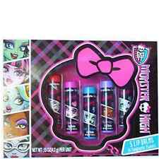 Monster High Flavored Lip Balm Cherry, Berry, Black & Blue, Ocean Potion 5 Pack