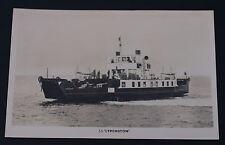 Postcard Steam Ship Lymington Unposted Real Photo RP