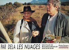 MARCELLO MASTROIANNI JEANNE MOREAU PAR DELA LES NUAGES 1985 VINTAGE LOBBY CARD