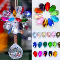 10Pcs Teardrop Crystal Glass Loose Beads Jewelry Making Pendants 22*13mm DIY