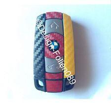 CARBONIO WM Chiave Pellicola BMW Key 1 set di 3 Serie 5 X5 X E60 E70 E90 E91 E92