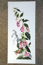 Beautiful botanical limited edition signed print 'Chinese Foxglove' by Ann Swan