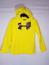 Under Armour Ua Youth Rival Hoodie 1267413-771 Yellow Hoody Boys Big Kids Size M