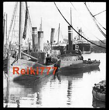 More details for old vintage glass negative slide mercia tug boat ship manchester liverpool ships