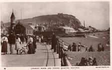 Hastings Lifeboat House & Fishing Quarter RP old pc used 1914 Rotary
