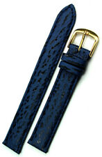 Germany Graf Watch Strap blue Marine 14mm Real Shark leather Band made