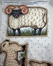 Cut & Sew Ram & Sheep by Joan Kessler for Concord Fabrics Panel Toys From Attic