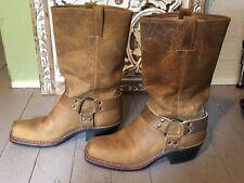 Frye 12R Harness tan boots sz 8.5
