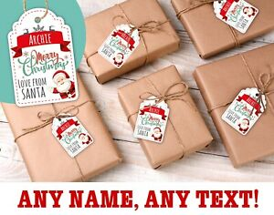 45 x Personalised Christmas Gift Tags - 60mm Christmas Present Labels Any Name!