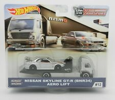 Hot Wheels *TEAM TRANSPORT* NISSAN Skyline GT-R AERO LIFT TRUCK NIP