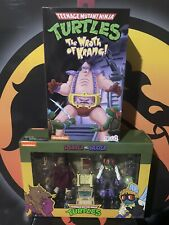 TMNT: The Wrath of Krang Action Figure NECA+ Splinter And Baxter 2 Pack Rare!!!!