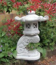 Feng Shui Gartenfigur, Japan Lampe Drachen, Steinguss 33 cm Skulptur, Gartendeko