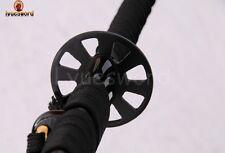 BLACK DAMASCUS FOLDED STEEL BLADE JAPANESE NINJA SAMURAI SWORD SHARP FULL TANG