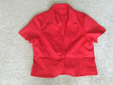 Ladies New Look Red Short Sleeve Jacket Size 12