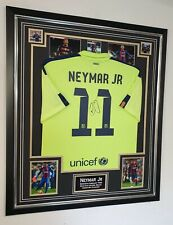 Rare NEYMAR Jr Signed Shirt Autograph JERSEY Display *** AFTAL DEALER COA