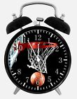 "Basketball Alarm Desk Clock 3.75"" Home or Office Decor W118 Nice For Gift"