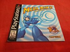 Mega Man 8 Anniversary Edition Playstation 1 PS1 Instruction Manual Booklet ONLY