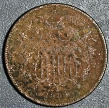1864 2c TWO CENT PIECE Large Motto  Grade:  VG A2139