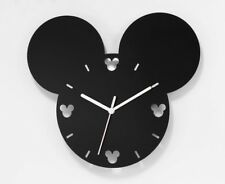 More details for mickey mouse style wall clock 30cm x 26cm modern home bedroom quartz clock