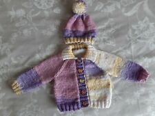 Hand knitted baby cardigans newborn