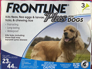 Frontline Plus for Dogs 23-44 lbs 3 Month, 1.34 mL (004FLTSP2344)