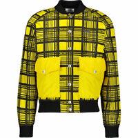 GCDS Men's Yellow & Black Tartan Bomber Jacket Sixe XL BRAND NEW! RRP £590 !