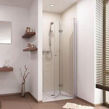 Echtglas Duschtür Falttür Duschabtrennung Dusche Nische Sondermaß, B: 80-120 cm