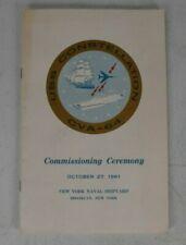 1961 Uss Constellation Cva-64 Commissioning Ceremony Program Usn Navy