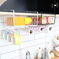 Storage Basket Rack Table Wire Mesh Under Shelf Cabinet Kitchen Organizer Holder